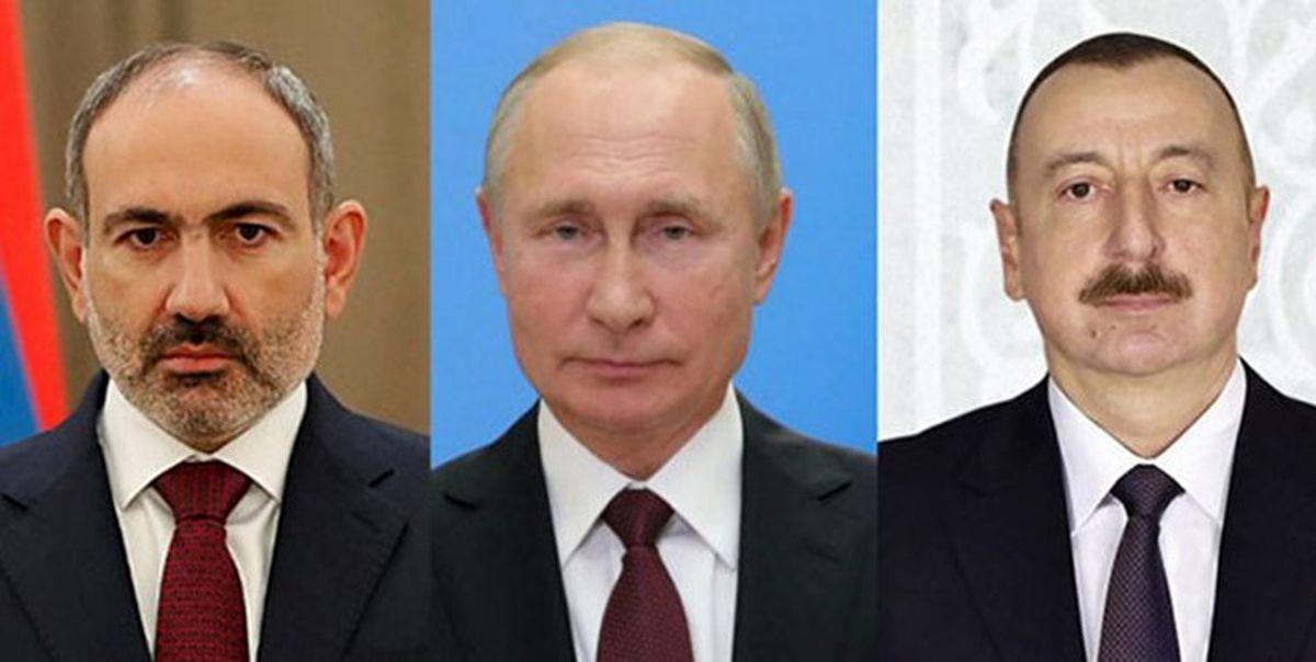 دیدار پوتین با علیاف و پاشینیان دوشنبه در مسکو