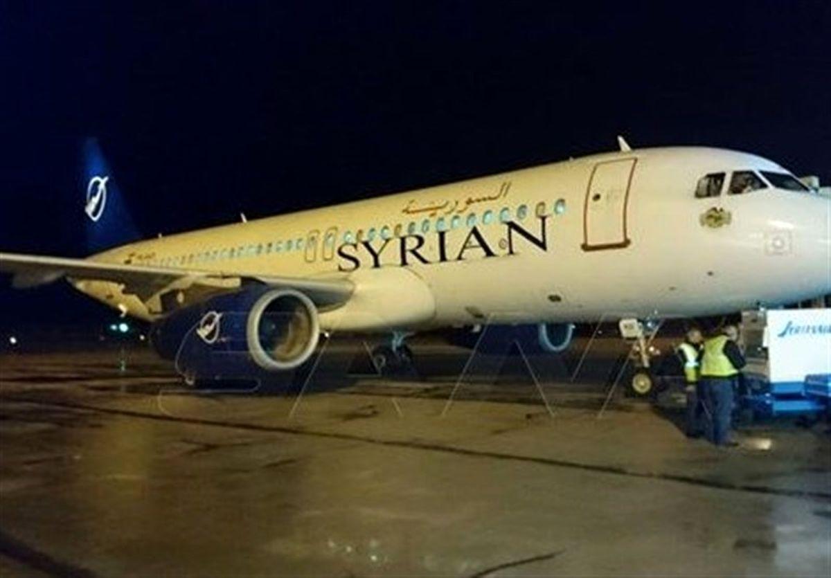 ورود اولین هواپیما از بیروت به فرودگاه حلب در سوریه