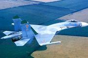 نمایش هوایی شوالیههای روسی با ۵ فروند سوخو ۲۷ در جزیره کیش