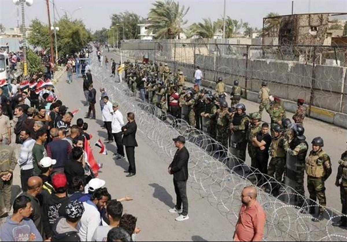 ۴ کشته و ۳۲۰ زخمی در جریان تظاهرات امروز بغداد