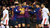 فوتبال جهان|برتری خانگی بارسلونا با درخشش مسی و سوارس