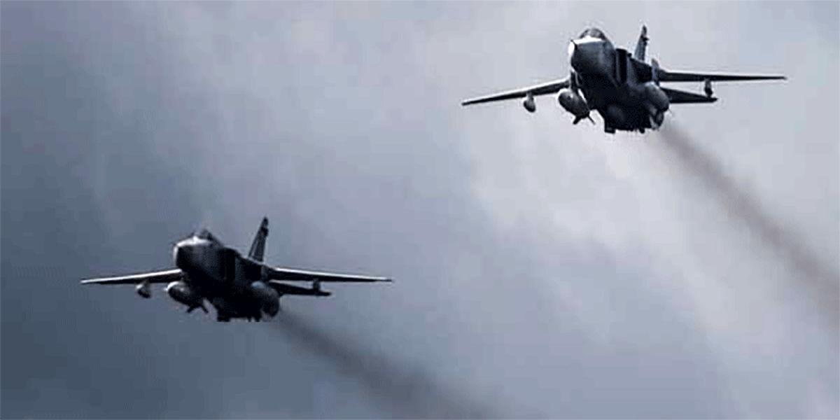 پرواز جنگنده های روس بر فراز ادلب و حلب