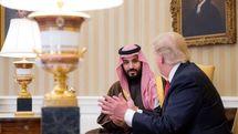 شاخ و شانه کشیدن ترامپ برای بن سلمان