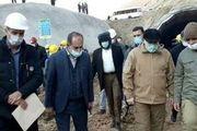 بازدید قالیباف از مسیر ترکیدکی لوله نفت سرخون